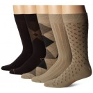 Dockers Pozostałe -  Dockers Men's Classics Dress Argyle Crew Socks, (Pack of 5)