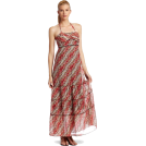 Donna Morgan sukienki -  Donna Morgan Women's Floral Halter Sundress Red multi
