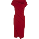 Bev Martin Haljine -  Donna Karan Red Sculpted Dress