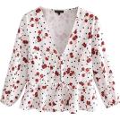 FECLOTHING Camicie (corte) -  Dot Cherry Printed Chest Lace-Up Shirt