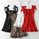 FECLOTHING Dresses -  Double-layer flat-bottomed chiffon skirt