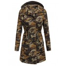 Elesol Outerwear -  ELESOL Women's Military Parka Drawstring Lined Coat Hooded Jacket