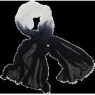 Echo Scarf -  Echo Ombre Boarder Wrap Black