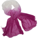 Echo Scarf -  Echo Ombre Boarder Wrap Hot Pink