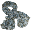 Echo Scarf -  Echo Oversized Fall Floral Wrap Teal