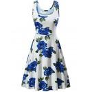 Fensace Dresses -  FENSACE Women's A Line Sleeveless Floral Summer Dress