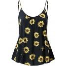 Fensace Shirts -  FENSACE Women's Sleeveless Summer Flowy Print Floral Spaghetti Starp Tank Tops