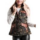 Fashionomics Jacket - coats -  Fashionomics 22A-1Li1398-CM Camo Puffer Hooded Vest