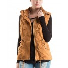 Fashionomics Jacket - coats -  Fashionomics 3J-3YU1700 Mustard Utility Vest