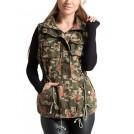 Fashionomics Jacket - coats -  Fashionomics 5BJ-90088 Olive Floral Camo Utility Vest