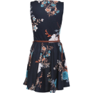 Sugerdiva Dresses -  Floral Pleated Dress in Black