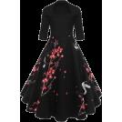 lastchance  Dresses -  Floral Half Sleeve A-line Dress