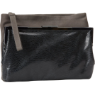 Foley + Corinna Clutch bags -  Foley + Corinna Double Venti Embossed Leather Clutch Grey/Slate
