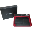 Mundi Wallets -  Front Pocket Wallet with Magnetic Money Clip Black