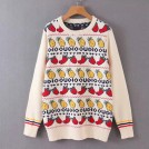 FECLOTHING Pullovers -  Fruit pattern jacquard sweater