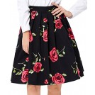 Grace Karin Skirts -  GRACE KARIN Women Pleated Vintage Skirts Floral Print CL6294 (Multi-Colored)