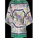 beautifulplace 连衣裙 -  GUCCI Floral-printed silk twill kaftan