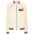 svijetlana2 Jacket - coats -  GUCCI Lace cotton-blend bomber jacket