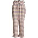 beautifulplace Capri & Cropped -  Gingham Check Belted Trousers ENGLISH FA