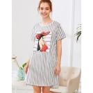 Shein Accessories -  Girl Print Striped Dress