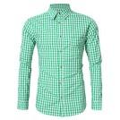 GloryStar Accessories -  GloryStar Men's German Bavarian Oktoberfest Shirt Button Down Checkered Shirt for Lederhosen