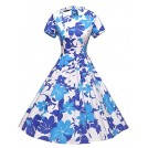 GownTown Dresses -  GownTown Womens 1950s Vintage Retro Party Swing Dress Rockabillty Stretchy Dress