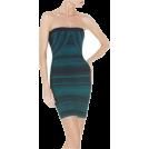 My Lulu Closet Dresses -  Green & Blue Print Bandage