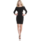 Halston Heritage Obleke -  HALSTON HERITAGE Women's Long Sleeve Sweetheart Dress Black