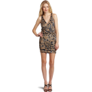 Halston Heritage Vestiti -  HALSTON HERITAGE Women's Side Tie Halter Dress Jewel Print