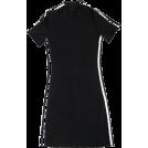 FECLOTHING Dresses -  Half Turtleneck Short Sleeve Striped Dre