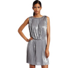 Halston Heritage Kleider -  Halston Heritage Women's Pleated Sleeveless Dress Sterling