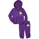 Hello Kitty Tute -  Hello Kitty Girls 2-6x Embroidery On French Terry Active Set Purple