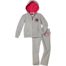 Hello Kitty Track suits -  Hello Kitty Girls 2-6x Fleece Active Set with Mini Sequin Accents Heather Grey
