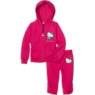 Hello Kitty Tute -  Hello Kitty Girls 2-6x French Terry Active Set with Embroidery Fuschia Purple