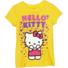 Hello Kitty T-shirt -  Hello Kitty Girls 2-6x Raining Hearts Graphic T-Shirt Aspen Gold
