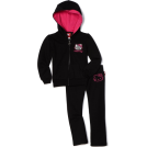 Hello Kitty Tute -  Hello Kitty Toddler Girls Fashionable Mini Sequins On Fleece Active-Wear Set Anthracite