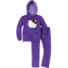 Hello Kitty Track suits -  Hello Kitty Toddler Girls Fashionable Sequin Bow On Fleece Active-Wear Set Royale Purple