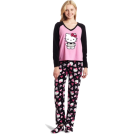 Hello Kitty Pajamas -  Hello Kitty Women's 3 Piece V-Neck Pajama Set with Slipper Black
