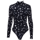 FECLOTHING Overall -  High collar five-pointed star pattern ju