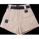 FECLOTHING pantaloncini -  High waist pocket casual pants