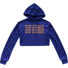 FECLOTHING Long sleeves shirts -  Hooded letter printed short casual sweat