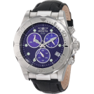 Invicta Relojes -  Invicta Men's 1717 Pro Diver Chronograph Blue Dial Black Leather Watch