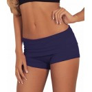 Hot from Hollywood Shorts -  Juniors Comfortable and Active Fitted Foldover Gym Workout Cotton Short Shorts