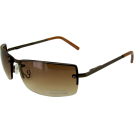 Kenneth Cole Reaction Sunglasses -  KENNETH COLE REACTION Men's Rimless Metal Sunglasses [KC1038], Shiny Brown (O067)