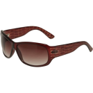 Kenneth Cole Reaction Sunglasses -  KENNETH COLE REACTION Reptile Arm Sunglasses [KC1055], Crystal Brown