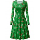 Kira Haljine -  KIRA Womens Christmas Dress Long Sleeve Casual Aline Party Dress