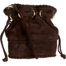 Kooba Bag -  Kooba Pippa Small Cross-Body Bucket Bag Brown Suede