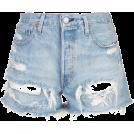 beautifulplace Shorts -  LEVI'S distressed denim shorts