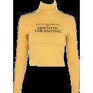 FECLOTHING T-shirts -  LONG SLEEVE HIGH COLLAR TSHIRT
