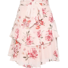 beautifulplace Skirts -  LOVER Tiered floral-print georgette mini